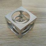 ساخت مکعب در مکعب با ماشین تراش دستی
